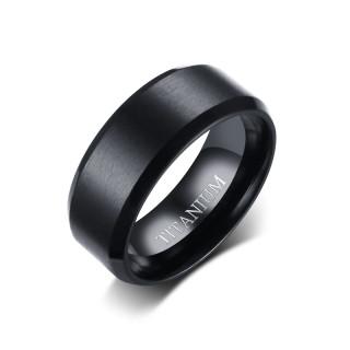 Wholesale Mens Black Titanium Wedding Bands