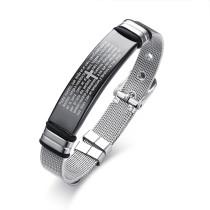 Wholesale Stainless Steel Mens Cross Bracelet