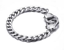 Wholesale Stainless Steel Lock Cuffed Bracelets Online