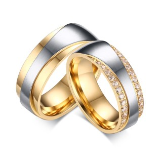 Hot Sell Stainless Steel Wedding Band Engagement Rings for Women