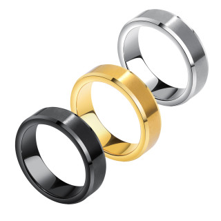 Wholesale 6mm Tungsten Wedding Band with Bevel Edge