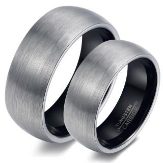 Wholesale Brushed Black Tungsten Wedding Bands