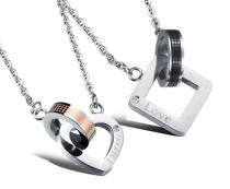 Wholesale Stainless Steel Couple Heart Jewelry