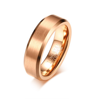 Wholesale Newest 6MM Matte Center Rose Gold Tungsten Ring