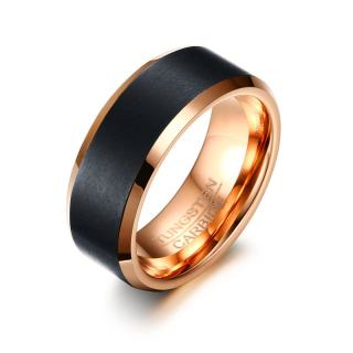 Wholesale Rose Gold and Black Tungsten Wedding Bands