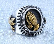 Wholesale Steel Mens Rings The Holy Virgin Mary Ring