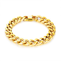 Wholesale Stainless Steel IP Gold Chain Bracelet