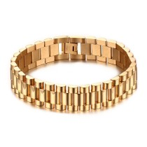 Stainless Steel Gold Plated Bracelet Watch Band