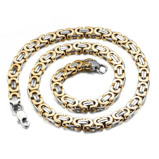 Wholesale Stainless Steel Necklace Gold IP