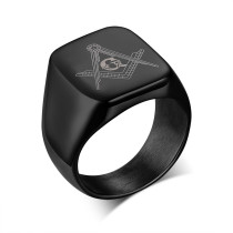 Masonic Jewelry Black Ring Stainless Steel Wholesale