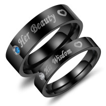 Wholesale Stainless Steel Black Love Bands for Couples