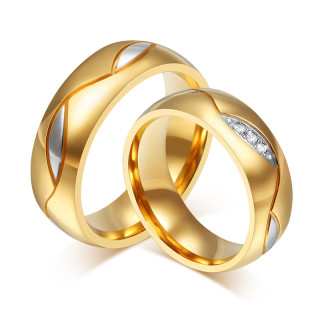 Stainless Steel Women and Men Wedding Rings