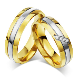 Stainless Steel His n Hers Wedding Ring Sets