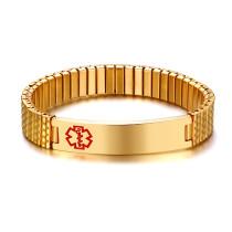 Wholesale Stainless Steel Medical Alert Id Bracelets Men Women Jewelry Gifts