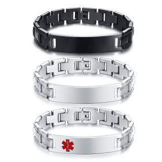 Wholesale Elegant Surgical Grade Steel Medical Alert ID Bracelet For Men and Women