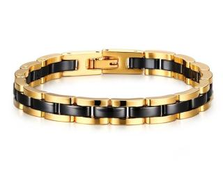 Wholesale Sophisticated Tungsten and Ceramic Link Bracelet for Men