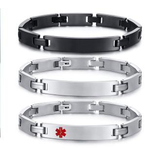 Wholesale Personalised Engravable ID Bracelet for Him
