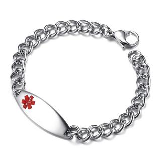 Wholesale Stainless Steel Medical Alert Id Bracelet For Women
