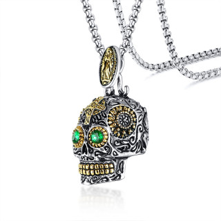 Wholesale Stainless Steel Skull Pendant Necklace