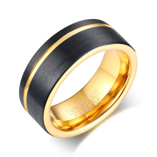 Tungsten Black Gold Duotone Ring Online Wholesale