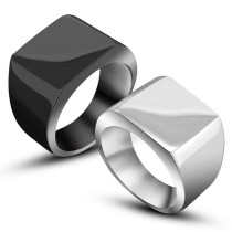 Wholesale Custom Make Engrave Men Ring Stainless Steel Silver Tone Black Fashion Jewelry