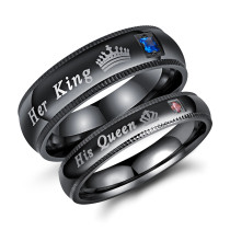 Wholesale Her King His Queen Ring Jewelry Wedding Steel Engagement