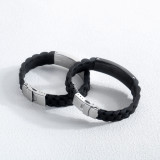 Wholesale Engravable Sport Silicone Bracelet with Stainless Steel ID Tag