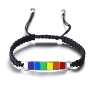 Wholesale Stainless Steel Pride Gay Weave Bracelet