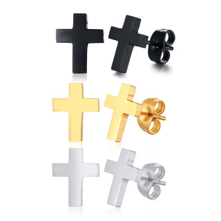 Wholesale Stainless Steel Mens Cross Earring