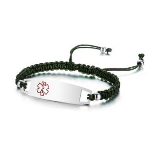 Wholesale Stainless Steel Medical Weave Bracelet
