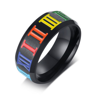 Wholesale Stainless Steel Rainbow LGBT Pride Ring