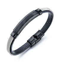 Wholesale Mens Leather Bracelet 21cm