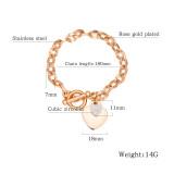 Wholesale Stainless Steel Women's Heart Bracelet