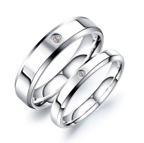 Wholesale Stainless Steel Wedding Ring and Engagement Ring Set