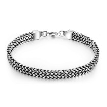 Wholesale Stainless Steel Chunky Silver Chain Bracelet Etsy