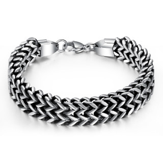 Wholesale Stainless Steel Double Franco Bracelet