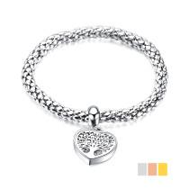 Wholesale Stainless Steel Tree of Life Adjustable Bracelet