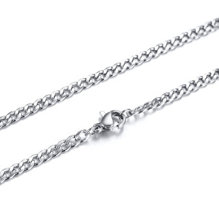 Wholesale Stainless Steel Chain Lock Necklace Punk