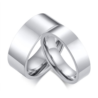 Wholesale Stainless Steel Flat Wedding Band Engagement Ring