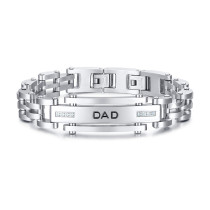 Wholesale Stainless Steel Dad Memorial Bracelet