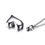 Wholesale Stainless Steel Heart Shaped Pendant Urn