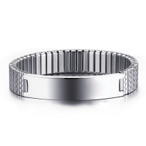 Wholesale Stainless Steel Stretch ID Bracelet Design Ideas