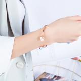 Wholesale Stainless Steel Open Bangle Charm Bracelet