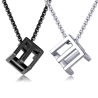 Wholesale Stainless Steel Love Rubik's Cube Pendant