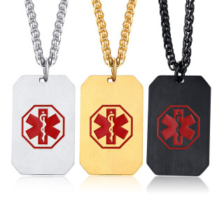 Wholesale Stainless Steel Medical Alert Dog Tag Charms