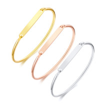 Wholesale Stainless Steel Design Your Own Bangle Charm Bracelet