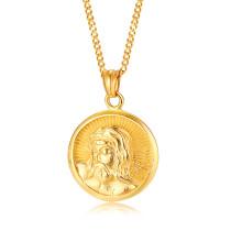 Wholesale Stainless Steel Men Jesus Pendant Necklace