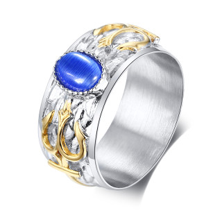 Wholesale Stainless Steel Trident Mens Ring