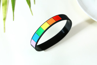 Wholesale Pride Rainbow Sport Rubber Wristbands Bracelet