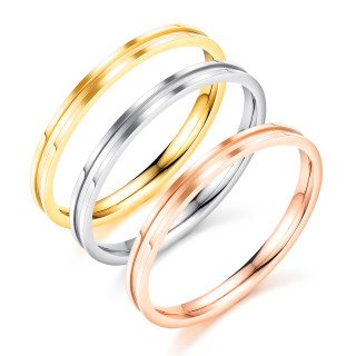 Wholesale Stainless Steel 2mm Narrow Channel Ring Set